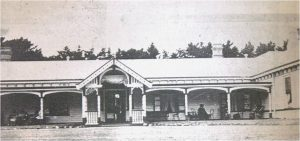 a black and white image of Mount Martha House