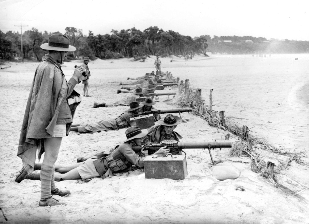 Picture World War 2 on the beach at Mount Martha